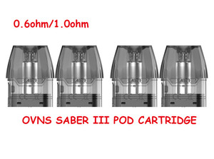 100% OVNS original Sabre III Cartucho vacío Vacío 2.5ml Tanque de vainas Easy Lado Lado Precise Airflow Ajuste DHL Envío Gratis