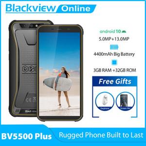 Blackview 2020 New BV5500 Plus Android 10.0 3GB+32GB IP68 Waterproof Rugged Smartphone 5.5'' Full Screen 4400mAh 4G Mobile Phone