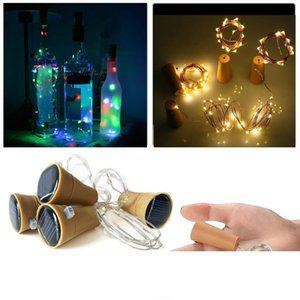 10 LED Solar Wine Bottle Stopper Copper Fairy Strip Wire Outdoor Party Decoration Novelty Night Lamp DIY Cork Light String