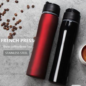 Портативный французский пресс 304 нержавеющая сталь французский кофе домашний изоляционный фильтр Cup French Press Coffee Maker чайник