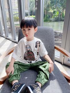 Yeni Çocuk Erkek Kız T Gömlek 2021 Yaz Çocuk Erkek Pamuk Karikatür Tees Toddler Gömlek Giyim Tops