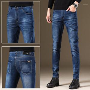 Jeans men's slim elastic casual black grey pants men's fall   winter 2020 tether jeans for men CN (origin)1