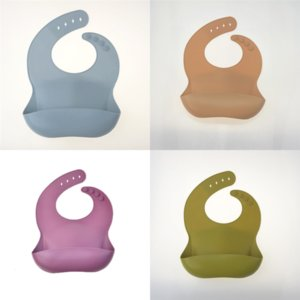 cghKV Feeding New Designer Baby Silicone Silicone Bibs Waterproof INS Burb UPS Lunch bike bib short Feeding Bibs Quality Colors Disposable