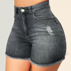 1pcs Taille haute Sexy Womens Jeans Jeans Shorts Denim 2020 Denime d'été Denim Broken Hole Shorts dames Skinny Super Sexy Short Jeans # G41