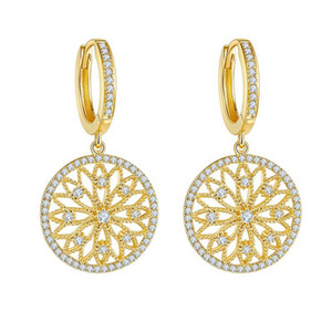 New Trendy Women Drop Earrings Dazzling CZ Noble Bridal Engage Wedding Accessories High Quality Earring Jewelry Drop Ship