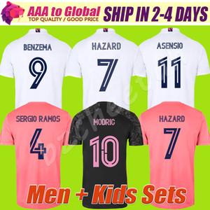 De calidad superior 2021 PELIGRO REAL MADRID BENZEMA fútbol Jersey 2010 2021 camiseta de fútbol hombres hijos kits establece deportivo superior camisa de manga corta