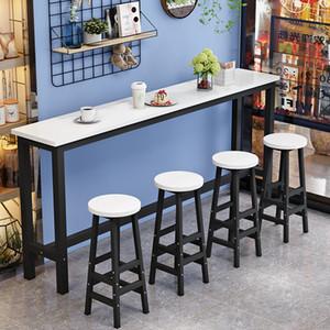 Tabela de barra moderna conjunta madeira e metal escrita mesa mesa de jantar mesa de jantar mobiliário multi usage mesa para pequeno espaço