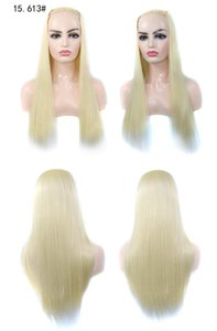 26 Inches 613# Blonde Straight U Part Synthetic Wigs Hair Wig Simulation Human Hair Pelucas in 15 Colors