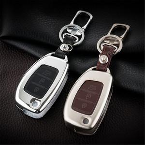 Подходит для Hyundai IX45 IX35 IX25 Аксессуары Accent Verna 3 Кнопка Кнопка FOB Чехол Держатель Держатель Keyshell Box Брелок Держатель Защитный Крышка