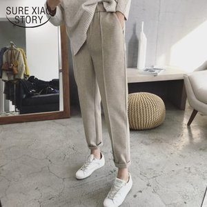Harem Autumn and Winter Women Thick High Waist Ankle-length Female Loose Casual Straight Suit Pants 6991 50 201022