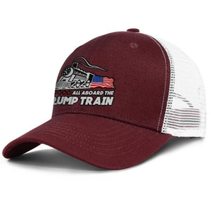 ALL ABOARD THE TRUMP TRAIN 2020 army_green for men and women trucker cap baseball cool designer design your own hats