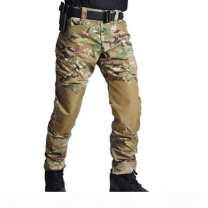 Fashion New Mens Climbing Trousers Capris Tactical Waterproof Outdoor Camouflage Multi-pocket Training Army Team Pants Size S-3XL