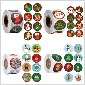 Décorations de Noël Stickers Santa Claus Packaging Emballages Stickers Étiquettes d'autocollants pour la fête de l'enveloppe Fête Noël Cadeaux Kers 2021 Décor