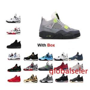 2020 SE 95 Neon 4 4s de basket-ball de chat noir Chaussures 4s Bred Chaussures Sneaker 11 Espace Cool Jam gris 6 UNC DMP