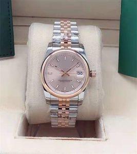 가벼운 외부 링 스테인리스 손목 시계 패션 시계 마스터 시계가있는 새로운 31mm 레이디 기계 자동 자동 시계