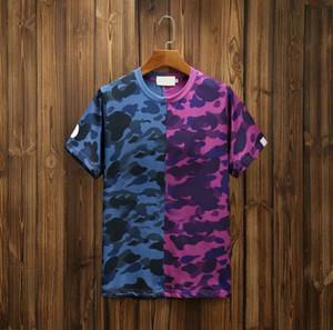 Erkekler Yaz Kamuflaj Tarzı Kısa Kollu Erkek Genişletilmiş Rahat Giyim Adam Baskı T-shirt Yeni Sıcak Satış Trendy T-shirt Moda Hızlı Kuru Üst
