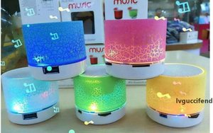Wireless Speaker LED Bluetooth Speaker A9 Subwoofer Stereo HiFi Player for IOS Android Mobile Phone Mini Speaker Support TF card Retail Box
