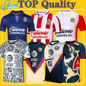 Club America Soccer Jersey 2020 2021 Guadalajara Chivas 20 21 Home Away Dritter Liga MX Pre-Match Football Shirt
