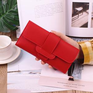 Hot Sale Women wallet female long three fold flip cover luxurys designers bags small fresh card holders multi-functional buckle wallet backp