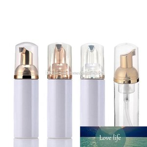 60ML White Clear Plastic Foamer Bottle with Gold Silver Rose Gold Pump Empty Refillable Travel Soap Foaming Dispenser