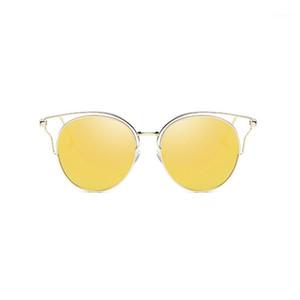 Uanview (Uanview женские солнцезащитные очки Новые моды поляризованные металлические красочные полые солнцезащитные очки WD08741
