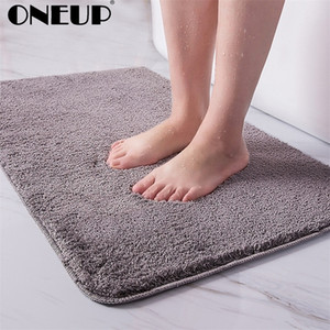 ONEUP Indoor Bathroom Rug Non-slip Bathroom Set Absorbent Dirt Catcher Bathroom Floor Mats Feet Microfiber Home Carpet Bath Mat 201210