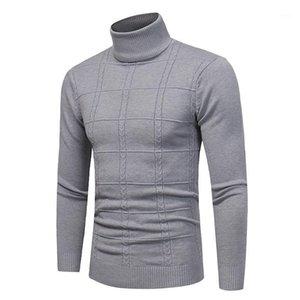 Primavera Otoño Sweater Sweater Streetwear Hombres Invierno Jersey Casual Manga Larga Ropa de Hombre Turtelneck Suéter Men1
