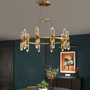 Crystal chandelier Living Room Modern crystal lamp Luxury led Lamp dining room crystal Shade chandeliers ceiling brass Fixtures