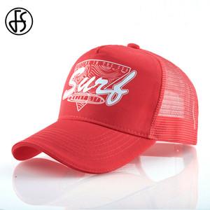 FS Casquette Trucker Hat Yaz Nefes Mesh Cap Snapback 5 Paneli Erkekler Kadınlar Yüksek Kalite Beyzbol Şapka Kırmızı Yeşil Kalça HopX1016 Caps