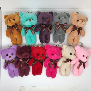 Plush Toy Pendant Conjoined Bear Cartoon Doll Small Pendant Bag Accessories Wedding Gifts Grab Machine Doll Clothing