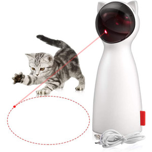 Smart Cat Laser Toy Automatic Chasing Lase Point USB Charging Interactive Cats Chase Toy with 5 Rotating Modes For Kitten Funny