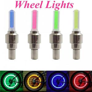 DHL Ship, Firefly Spoke LED Wheel Valve Stem Cap Tire Motion Neon Light Lamp For Bike Bicycle Car Motorcycle FY4324