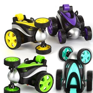 Wireless RC Car Mini Deformation Tumbling Electronic Remote control Stunt Drift car 360 degree Rotating Model Toy for children 201201