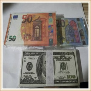 Most Realistic Prop money Euro dollar pound bar props children's toys adult game props special movie game Euro dollar pound stage money0030