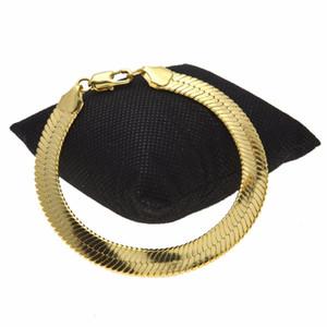 10 * 1,5 мм Новая мода змея сеть сетевой браслет мужчин женщин Goldsilver цвет меди металлический классический хип хмель