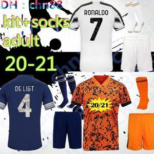 kit + meias homens adultos 2020 2021 casa longe de futebol 3 Futebol Jerseys camisa 20 21 Player versão Futebol