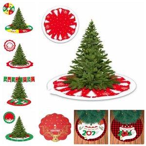 Christmas Tree Skirt Survivre Motif Arbre Pad Père Noël Arbre de Noël de fond personnalisé mer Décoration d'expédition AHB2472