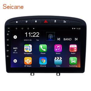 SEINCANE 9 pouces Android 10.0 2 Go stéréo de voiture pour 2010-2021 408 Avec GPS Navigation Head Unit Miroir Link Liaison USB Car DVD