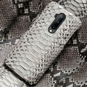 Genuine Python Leather phone case Oneplus Nord 6 6T 8Pro 8 Luxury Snakeskin Cover for One Plus 7T pro 5 5T 7