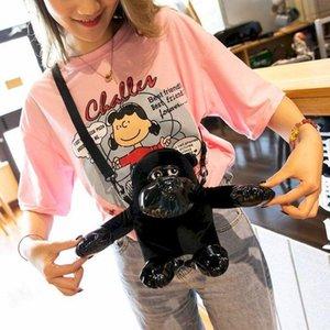 Шимпанзе мультфильм маленькая сумка женская сумка новый 2020 милые обезьяны плюшевые куклы куклы посыльного плеча