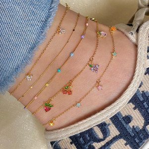 25 colors New Bohemian beach bikini Women foot anklet chain jewelry gift Bracelets bangle Silver Plated Turquoise Foot Chain Anklets