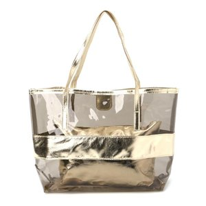 Hot Sale Women Transparent Shopping Bags Jelly Clear Beach Handbag Tote Shoulder Bag