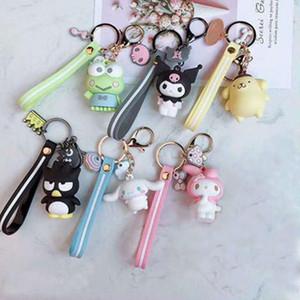 Keychain Woman Key Chain Pom Pom Purin Cinnamoroll Bad Badtz Maru Cute Cartoon Novelty High Quality PVC Pendant Jewelry