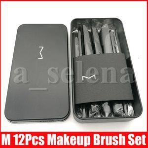 M Makyaj Araçları 12 Adet Makyaj Fırçalar Seti Kiti Seyahat Güzellik Profesyonel Vakfı far Kozmetik Makyaj Fırça