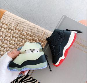 Супер Роскошные Спортивные Баскетбольные Обувь Чехол для AirPods 1 2 3 Мягкие Силиконовые Беспроводные Bluetooth Наушники Света