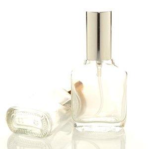 15 ml şeffaf kare cam ince sis püskürtücü şişe şişeleri taşınabilir mini parfüm atomizer konteyner lx8605