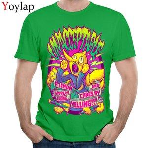 YOYLAP Erkek T Gömlek Klasik Baskılı Gömlek Yaz Sonbahar Pamuk Kısa Kollu Parti LEMONGRAB KABUL EDİLEMEZ Tişörtü Tops
