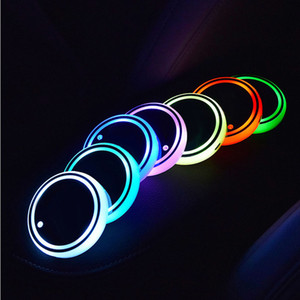 LED Luminous Water Coaster 68x8mm Non-slip Water Coaster Colorful USB Car Interior Atmosphere Light LED Cup Drink Holder
