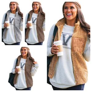 Mulheres à prova de vento quente aquecido colete de pelúcia casaco top ladies gilet pelúcia zíper casacos moda waistcoat mulheres sem mangas lã outwear e123102