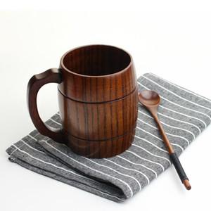 400 ml Oak Wood Mug Cup for Beer Milk Coffee Container, Wedding Groomsmen Gift Handmade Mug
